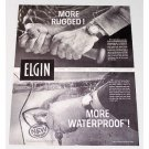 1960 Elgin Wrist Watch Print Ad - More Rugged More Waterproof