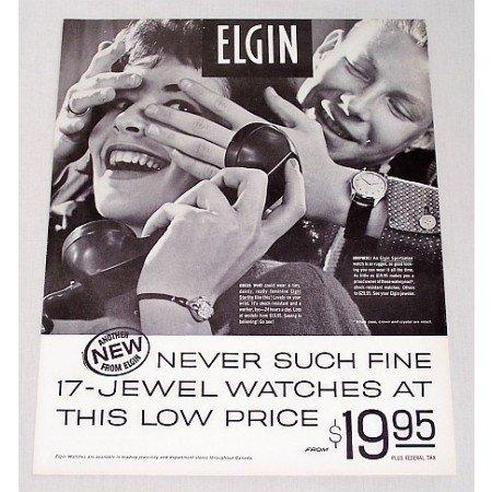 1960 Elgin 17 Jewel Watches Print Ad