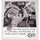 1960 Elgin 17 Jewel Watches Print Ad