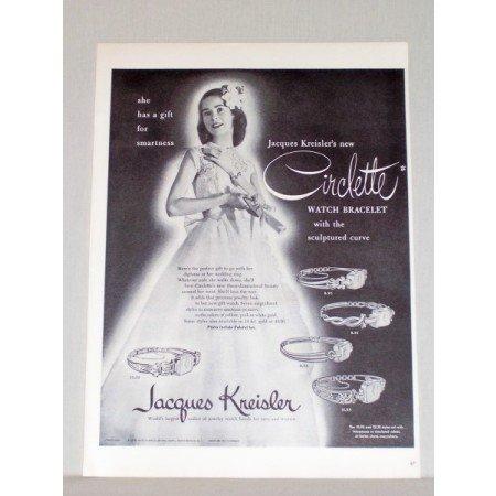 1948 Jacques Kreisler Circlette Watch Bracelet Print Ad