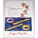 1948 Jacques Kreisler Golden Mesh Watchbands Color Print Ad