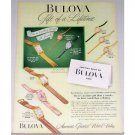 1948 Bulova Watches Color Print Ad - America Runs On Time