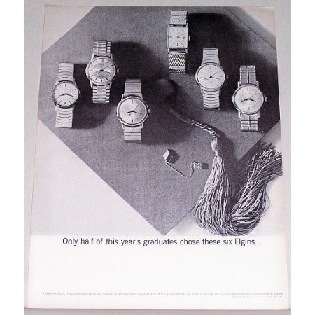 1962 Elgin Watches Print Ad