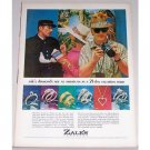 1965 Zales Jewelers Color Print Ad - 21 Day Vacation Tour