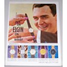 1961 Elgin Wristwatch Color Print Ad
