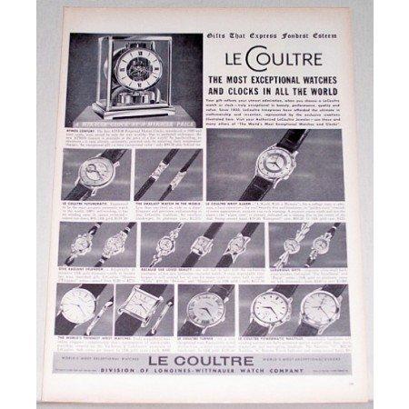 1955 Le Coultre Watches Print Ad - Express Fondest Esteem
