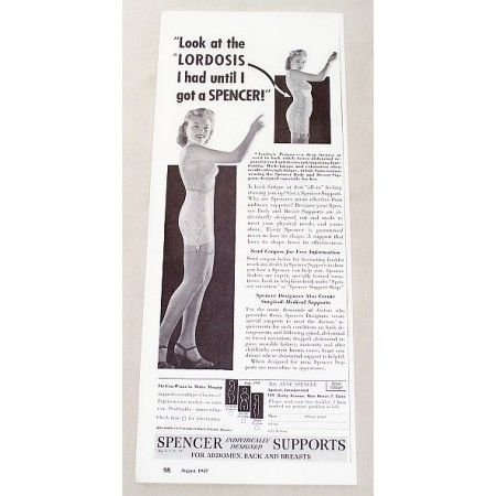 1947 Spencer Back and Breast Supports Print Ad