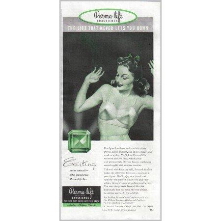 1945 Perma Lift Brassieres Womens Bra Print Ad