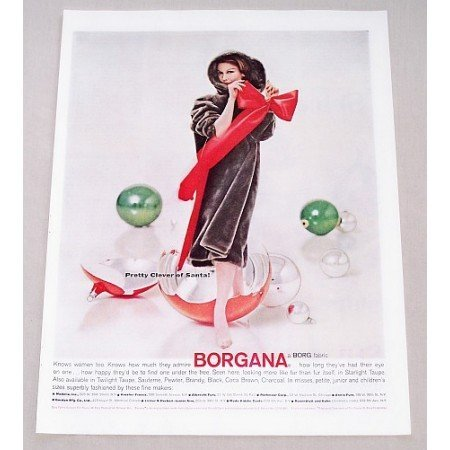 1956 Borgana Starlight Taupe Color Print Ad