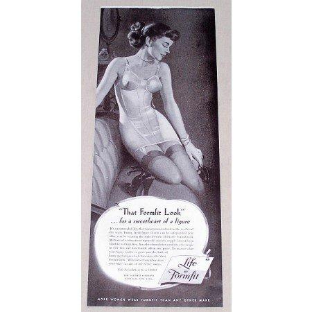 1949 Life by Formfit Bra Girdle Print Ad