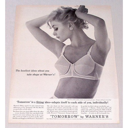 1961 Tommorrow by Warner's Fashion Bra Print Ad