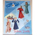 1941 Fashion Frocks Dresses Color Art Print Ad