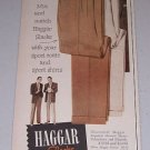 1954 Hagger Slacks Print Ad Baseball Celebrity Eddie Mathews