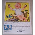 1958 Carter's Snap-Fastened Shirt Baby Outfit Color Art Print Ad