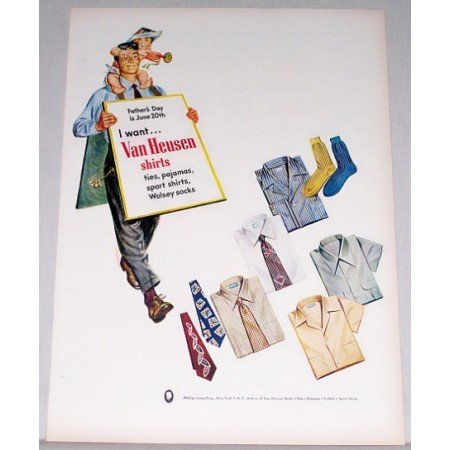 1948 Van Heusen Shirts Ties Pajamas Socks Color Print Ad