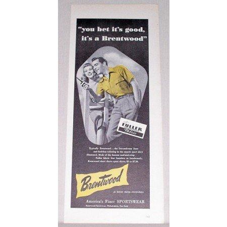 1948 Brentwood Sportswear Print Ad