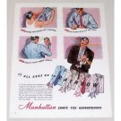 1944 Manhattan Shirts Color Art Print Ad - Adds Up To Rainbow