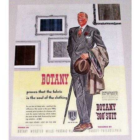 1944 Botany 500 Men's Suit Color Art Print Ad