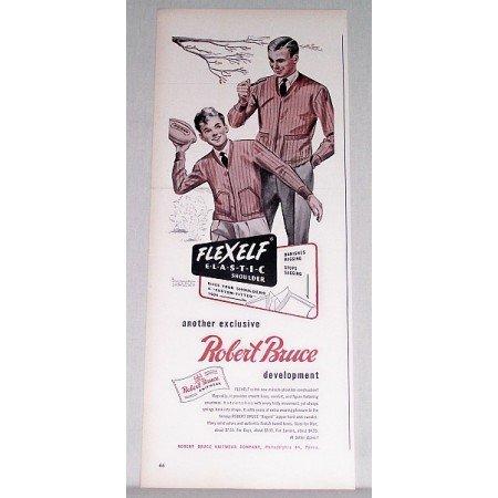 1948 Robert Bruce Knitwear Zipper Front Coat Sweater Print Ad