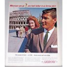 1962 Arrow Whip Shirts Rome Coliseum Color Print Ad