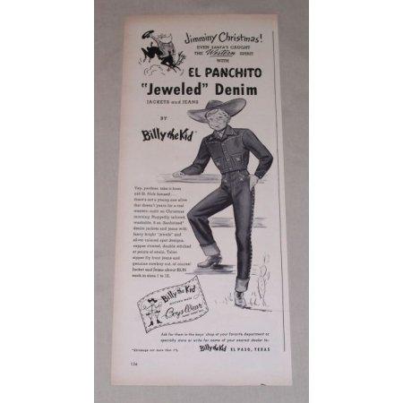 1949 Billy Kid Panchito Jeweled Denim Jacket Jeans Print Ad