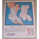 1957 Carter's Dimple Knit Sleepers Color Art Print Ad
