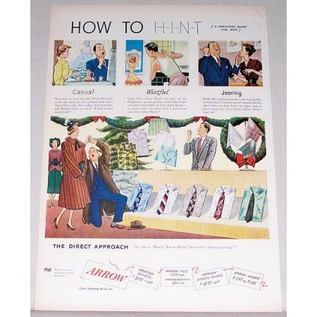 1948 Arrow Shirts Color Print Ad - How To Hint