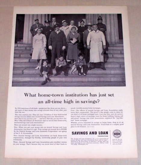 1954 Savings and Loan Foundation Print Ad