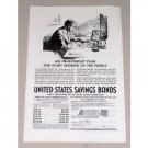 1937 United States Savings Bonds Print Ad - An Investment Plan