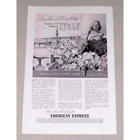 1937 American Express Italy Vacation Print Ad