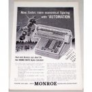 1955 Monroe Monro Matic Duplex Calculator Print Ad