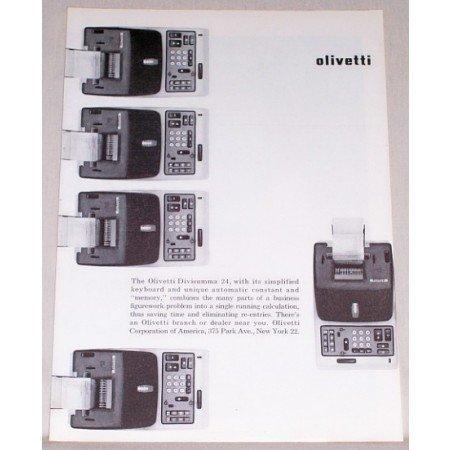 1959 Olivetti Divisumma 24 Calculation Machine Print Ad