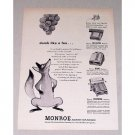 1949 Monroe Calculating Machines Fox Animal Art Print Ad - Dumb Like A Fox