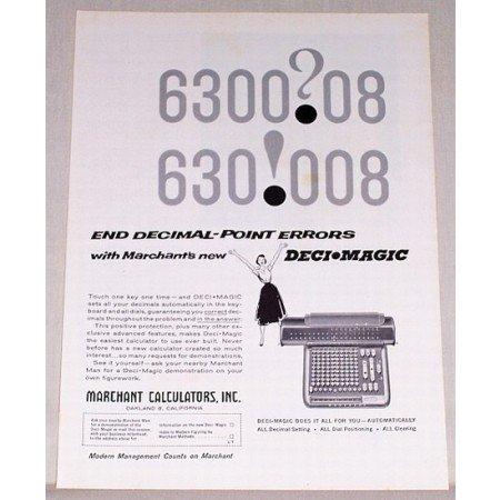 1957 Marchant Deci Magic Calculator Print Ad