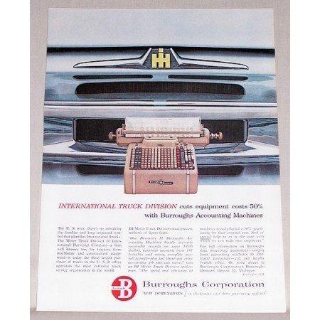 1959 Burroughs Sensimatic Accounting Machine Color Print Ad