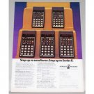 1979 Hewlett Packard Series E Precision Calculators Color Print Ad