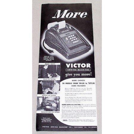 1949 Victor Model No. 7-83-54 Adding Machines Print Ad