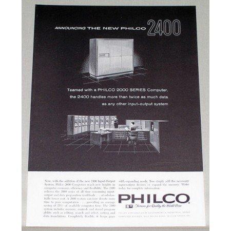 1961 Philco 2400 Series Computer Print Ad