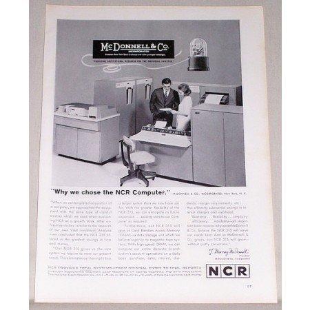 1962 NCR 315 Computer Print Ad