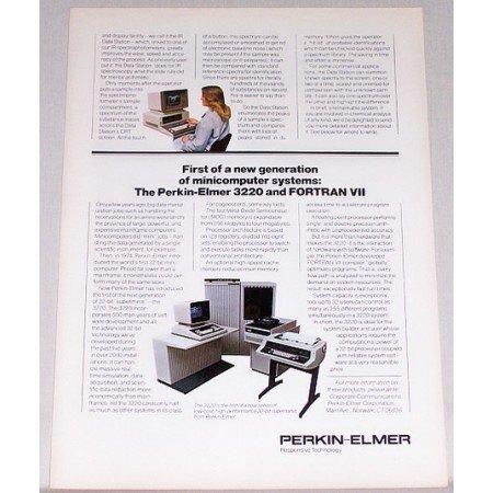1979 Perkin Elmer 3220 Mini Computer System Print Ad