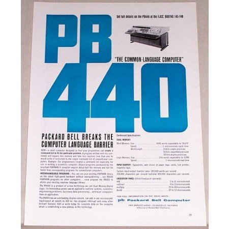 1962 Packard Bell 440 Computer Print Ad