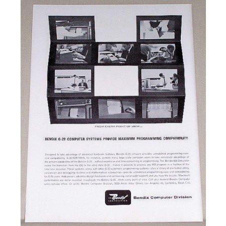 1962 Bendix G-20 Computer Systems Print Ad