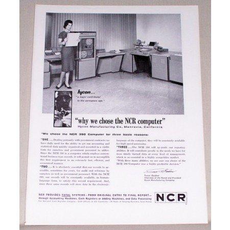 1962 NCR 390 Computer Print Ad