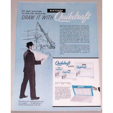 1961 Quikdraft Drafting Pads Color Print Ad