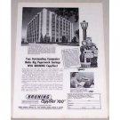1955 Bruning Copyflex 100 Copier A. O. Smith Corp Building Print Ad