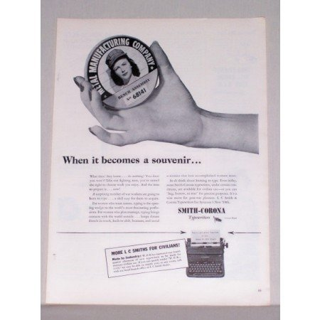 1944 Smith Corona Typewriters Print Ad