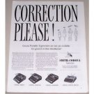 1944 Smith Corona Typewriters Print Ad - Correction Please!
