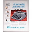 1962 Royal Quiet DeLuxe Portable Typewriter Color Print Ad