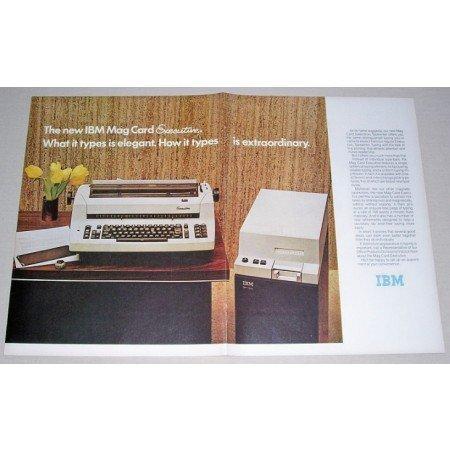 1972 IBM Mag Card Executive Typewriter 2 Page Color Print Ad