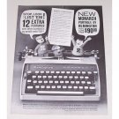 1961 Remington Rand Monarch Portable Typewriter Print Ad